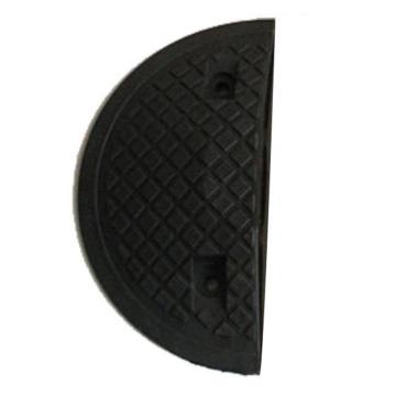 重载橡胶减速带端头(10吨)-优质原生橡胶,含安装配件,黑色,250×350×50mm,14462