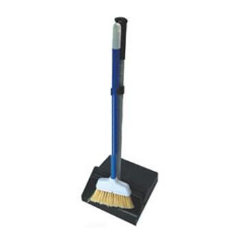 商用防风塑料畚箕连扫把,E205BL黑色