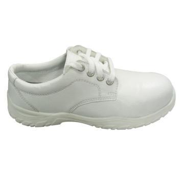 安全鞋,保护足趾,防静电,白色系带,尺码:41