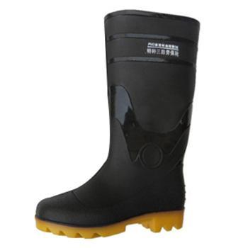 高筒雨靴,防滑耐油,牛黑色,40,PKXZ-001