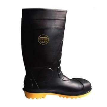 莱尔 耐酸碱耐腐蚀耐磨劳保靴,防砸防刺穿防静电,42,SL-2-91