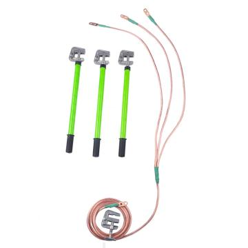 华泰 接地棒带接地线, 6KV(3*1米+2米 25平方线+3根平口螺旋接地棒+1接地夹)