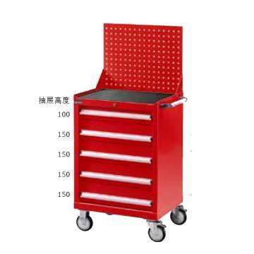 标准型工具车,高H*宽W*深D:1462*700*510,抽屉荷重(kg):50,ELA-285MA