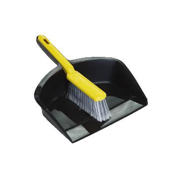 特耐适(Trust)垃圾铲+柜台刷套装,6926黑色, 31.1cm×21cm×6.7cm