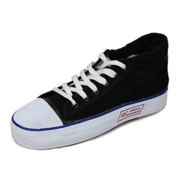 双安 绝缘安全鞋,绝缘耐高压布面胶鞋15KV黑色 尺码:36