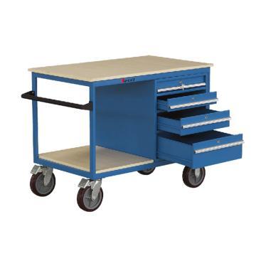 虎力 多用途钢制工作平台(带抽屉),额定载重(kg):500,台面尺寸(mm):1150*700