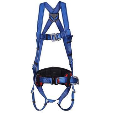 羿科 带护腰全身式安全带,60816718,PN02全身式两挂点带护腰安全带