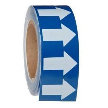 安赛瑞 管道流向箭头带-蓝,高性能自粘性材料,50mm宽×27m长,33525