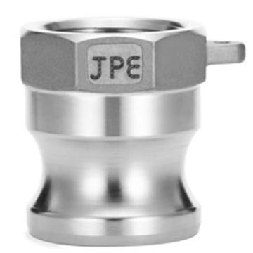 """JPE 双扣式内牙插头,不锈钢,2"""",AS6-A200-R"""