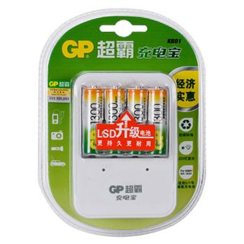 超霸充电器, GPKB01GW130-2IL4(附4节5号镍氢充电电池)