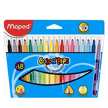 马培德 盒装水彩笔,18色 845021CH 单位:盒