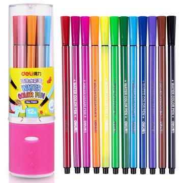 得力水彩笔(12色),7065 单位:桶