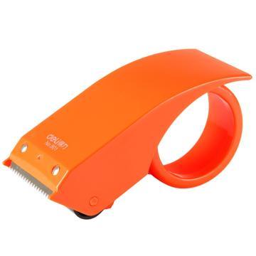 得力(deli)胶带切割器,801(适用胶带宽度48mm) 不锈钢刀口 颜色随机 单位:只