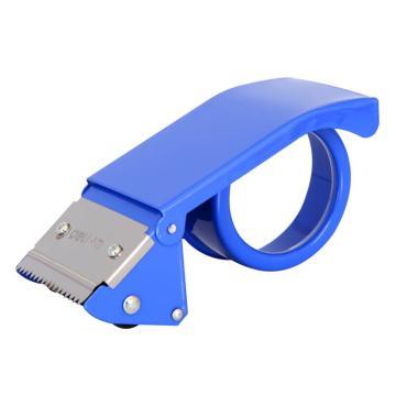得力(deli)胶带切割器,0824(适用胶带宽度63mm) 不锈钢刀口 颜色随机 单位:只