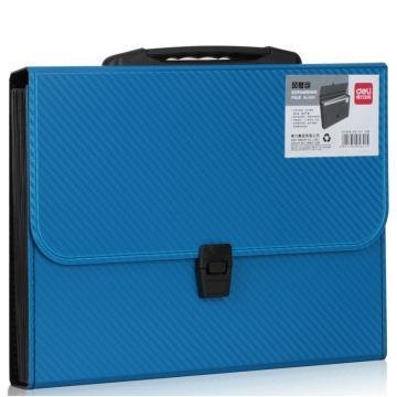 得力(deli)风琴包,A4手提多层文件夹 票据收纳文件包 5641-13格风琴包 单位:只