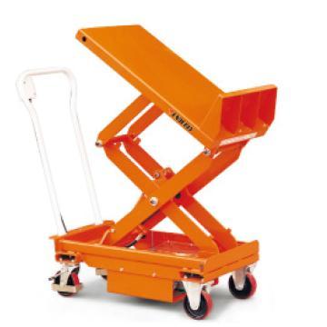 西域推荐 电动升降平台车(倾斜台面) 载重(kg):800 高度h1=500-1000mm 高度h2=500-1620mm,TS80