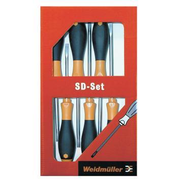 魏德米勒螺丝刀套装,6件套,Set 2.5/3.0/4.0/5.5/PH1/2(9009740000)