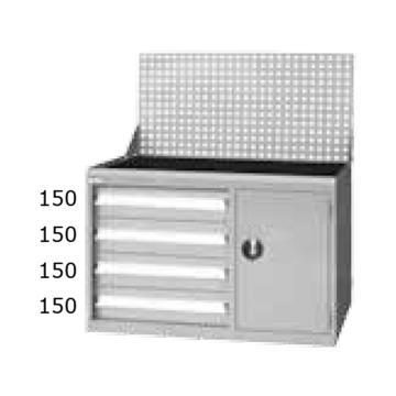 天钢 工位柜,H1198ⅹW1070ⅹD515 左边4个抽屉,ELS-274A