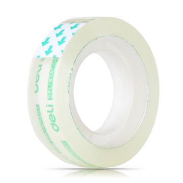 得力(deli)透明文具胶带,12mm*18m 6卷/筒装 30029 单位:筒