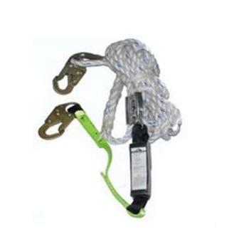 百业安 安全绳,EPI-TZ5400-20M,带缓冲包绳自锁器 适合16毫米安全绳用抓绳器 20米