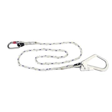 代尔塔DELTAPLUS 限位系绳,503320,钢制O型钩+钢制大钩 2米