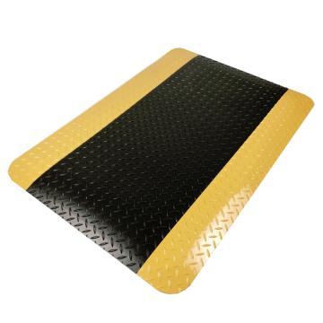 爱柯部落耐磨型抗疲劳垫,防静电抗疲劳垫,黄黑60cm*90cm*13.5mm 单位:片
