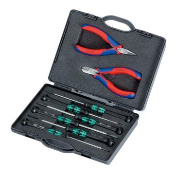 凯尼派克 Knipex 电子工具组套,8件套,00 20 18