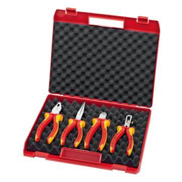 凯尼派克 Knipex 绝缘工具套装,4件套紧凑型, 00 20 15