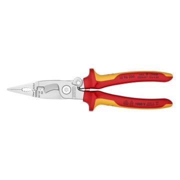 凯尼派克 Knipex 多功能绝缘电工钳,200mm,13 96 200