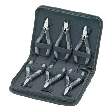 凯尼派克 Knipex 防静电电子剪钳,6件套,00 20 17