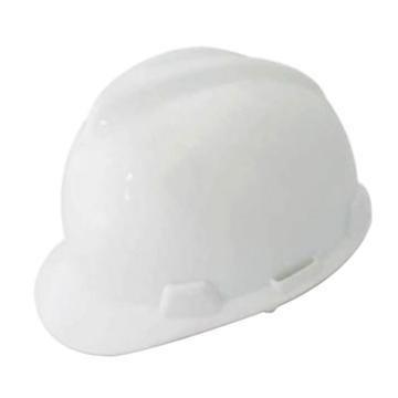梅思安MSA 安全帽,10172879,V-Gard ABS标准型安全帽 白 超爱戴帽衬 D型下颏带