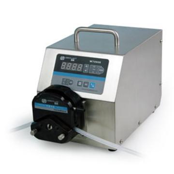 基本调速型蠕动泵,WT300S不锈钢泵头YZ15,单通道流量(毫升/分钟)3~1340,通道数量1