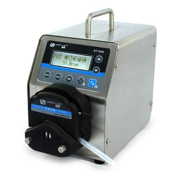 基本调速型蠕动泵,BT100S(不锈钢304机箱)泵头YZ25,单通道流量(毫升/分钟)0.1667~425,通道数量1