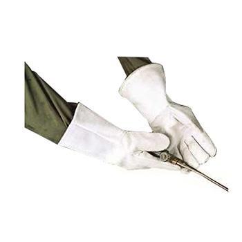 强生 焊接手套,82303520,牛皮电焊手套 白色 35cm