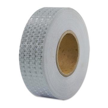安赛瑞 超级晶格反光警示胶带,超级晶格反光材料,50mm×50m,白色,14352