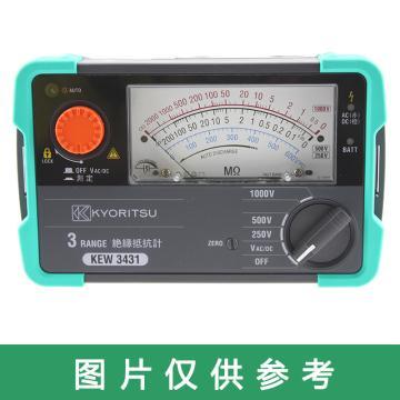 克列茨/KYORITSU 模拟兆欧表,3432,125/250/500V
