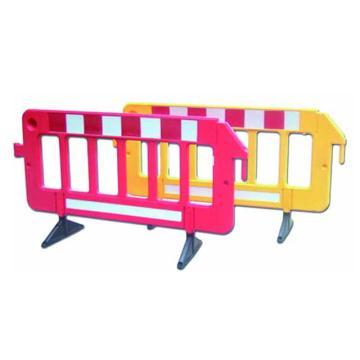 安赛瑞 组合式围栏,高强度塑料,原生橡胶底座,覆工程级反光膜,2000×400×1000mm,14474