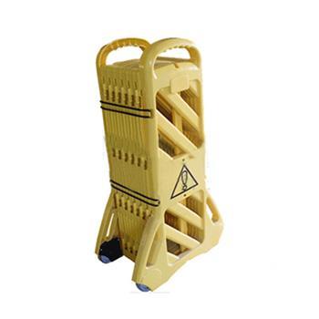 安赛瑞 折叠式围栏,高性能PP材质,黄色,高110cm,展开长度360cm,11227