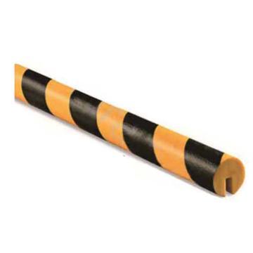 安赛瑞 警示防撞条(D款),耐寒PU材质,黄黑橘皮纹表面,槽型,长1000mm,11413