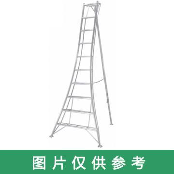 PICA 三脚梯子 园艺三脚 MAX 100kg 梯子垂高:4.35m 有效高:3.48m 重量:19.0kg,GMK-90A