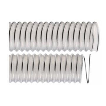 IPL 0.9mm壁厚-食品级钢丝加强透明PU软管,305*306.8mm,10米/卷,-40℃/90℃