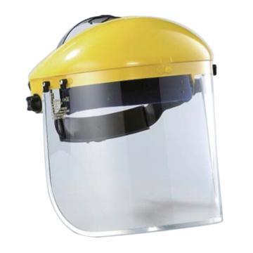 蓝鹰 头盔式防护面屏套装,B1YE+FC48 ,黄色