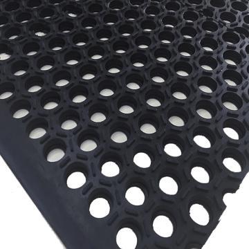 """丽施美 Hexguard""""特耐"""" 耐重油橡胶防滑垫,0.9*1.5m 黑色,单位:块"""