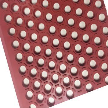 """丽施美 Hexguard""""特耐"""" 耐重油橡胶防滑垫,0.9*1.5m 砖红色,单位:块"""
