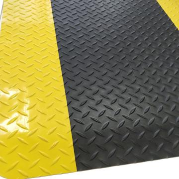 """丽施美 """"瑞克""""ESD耐磨型防静电抗疲劳垫,0.9*6m,黑+黄边 单位:块"""
