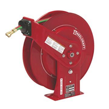 Reelcraft 弹簧驱动气焊卷轴,低压,含18米软管,英制接头,TW7460 OLP