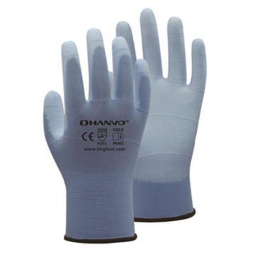 恒辉 PU涂层手套,PE302-9,13针尼龙掌浸