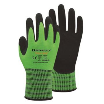 恒辉 丁腈涂层手套,NX680-9,13针拉绒腈纶掌浸