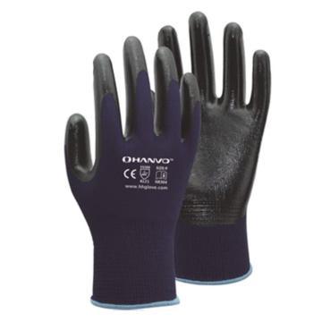 恒辉 丁腈涂层手套,NE304-9,13针涤纶掌浸