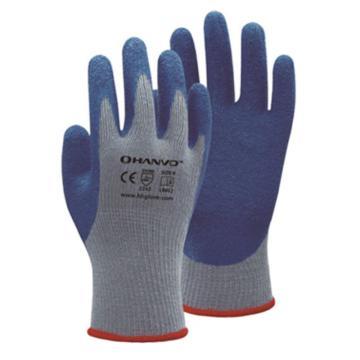 恒辉 乳胶涂层手套,LB012-8,10针掌浸